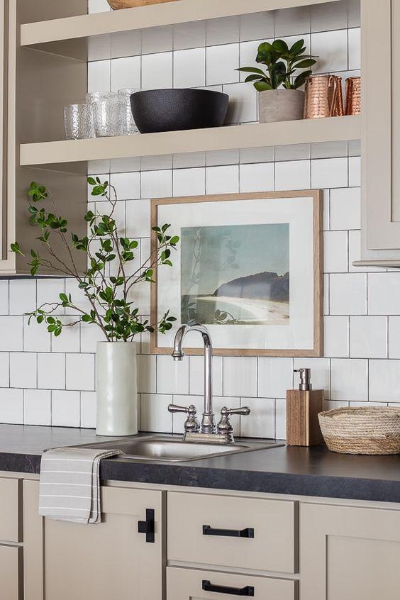 cucina bianco e tortora